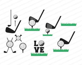 Golf svg, Golf club svg, golf dxf, golf cutting file, cuttable file, vinyl svg, golf eps, golf ai