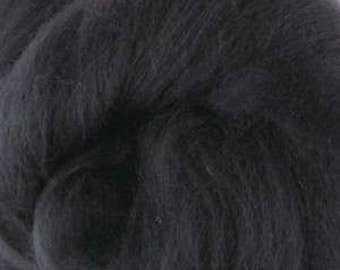 Extra fine Merino wool roving, Seal grey, 19 micron, 100 grams/3.5 oz.