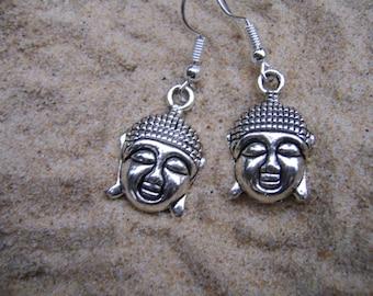 Buddha Earrings. Tibetan Silver Earrings. Spiritual Earrings. Boho Earrings . Buddha Jewellery. Charm Earrings. Spiritual Jewellery.