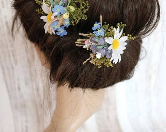 Flower hair pins - Marguerite