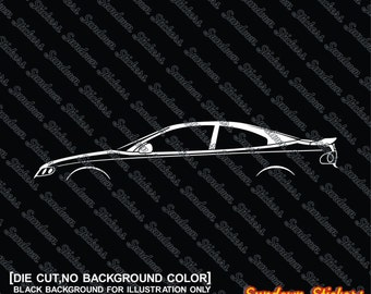 2X car silhouette stickers - For Pontiac GTO coupe ,4th gen (2004-2006)