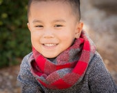Toddler infinity scarf for boys and girls