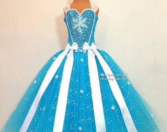 Ice Queen Super Sparkly Tutu Dress-Birthday, Party, Photo Prop, Pageant, Fancy Dress, Princess