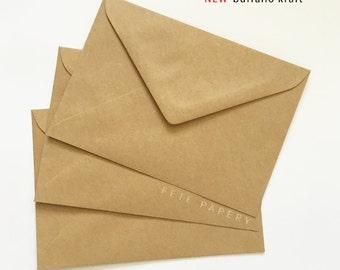 "5x7""/A7 Invitation Envelopes in Buffalo Kraft 130mmX185mm Made in Australia"