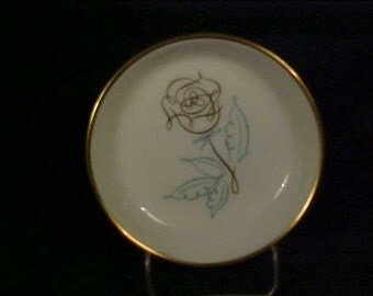 Easterling Spencerian Rose Made in Germany Butter Pat Plate