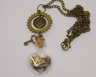 Steampunk Necklace, Steampunk, Steam Punk, Steampunk Jewelry, Steampunk Wedding, Recycled Watch, Upcycled Jewelry, Steampunk Fashion,