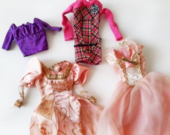 Set of 4 Vintage Dresses for Barbie