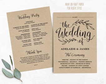 Wedding programs | Etsy