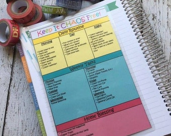 Laminated Cleaning Schedule With Detailed Lists by Area