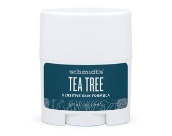 Tea Tree Sensitive Skin Travel-Size Stick (.7 oz.) - Schmidt's Natural Deodorant