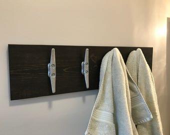 Hallway Coat Rack Industrial Naval Beach House Design, Nautical Coat Rack,  Wood Coat Rack Part 71