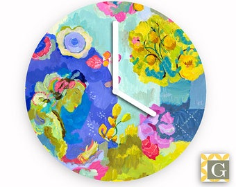 Wall Clock by GABBYClocks - Pink Moon by Kimberly Hodges