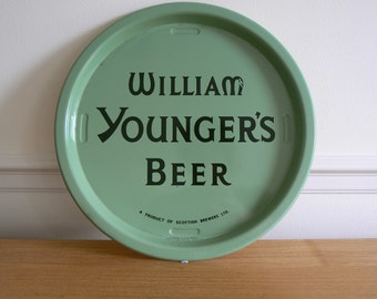 Lovely William Younger's Beer Advertising Bar Tray by Hancor of Mitcham.