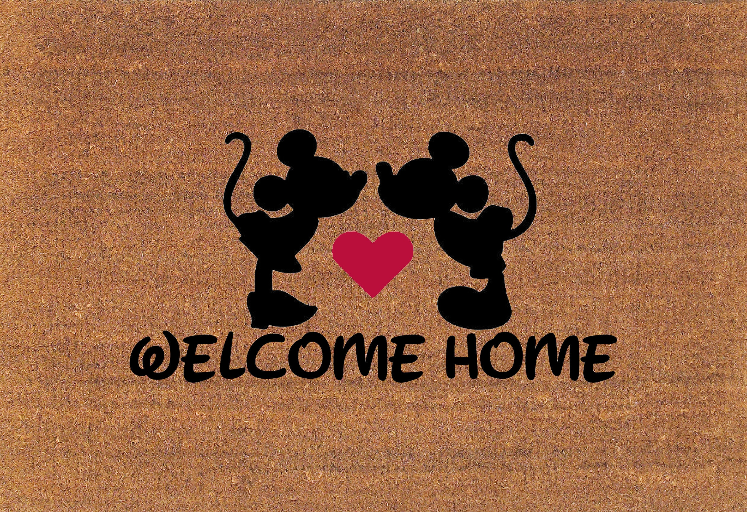 X Large Kissing Mickey Amp Minnie Mouse Welcome Home Disney Door