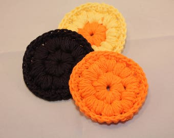 Crochet Face Scrubbies Set, Crochet Bath, Makeup Remover Scrubby, READY TO SHIP, Cotton Scrubbies, Bath Accessories Set, Face Scrubby