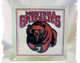 University of Montana _ Grizz Glass Block