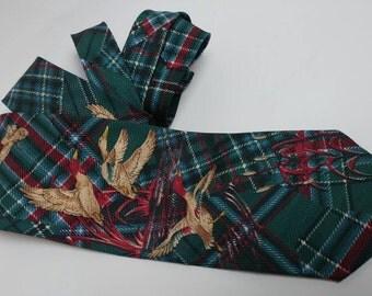 Vintage tartan duck tie