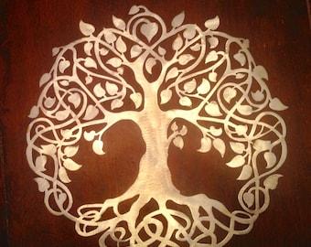 Metal Tree of Life Steel Sign