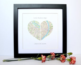 Wedding Gift for Long Distance Couple- Bridal Shower Gift, Map Wedding Gift, Gift for Bride, Gift for Groom, International Wedding, Map