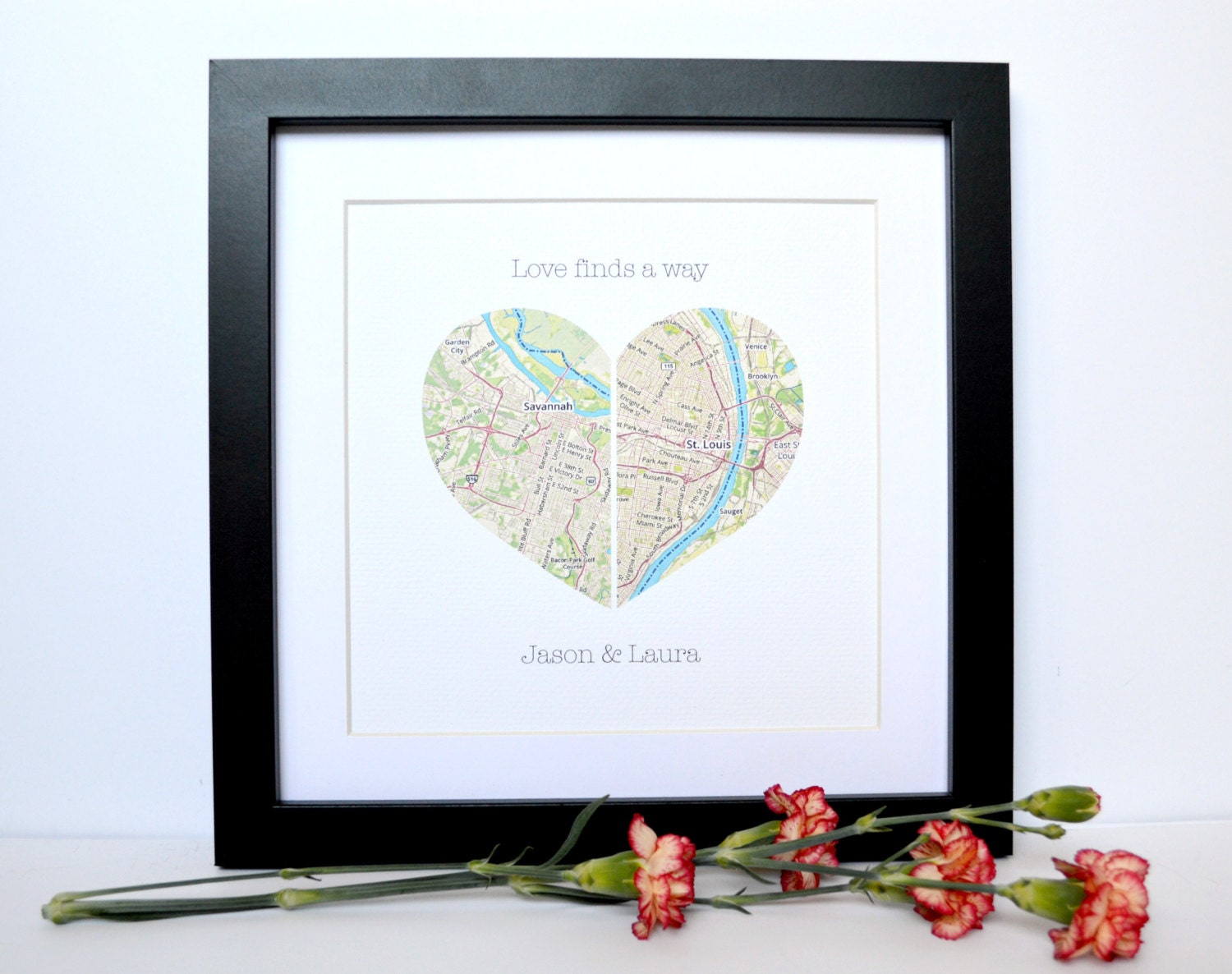 Gifts For Fiance On Wedding Day: Wedding Gift For Long Distance Couple Bridal Shower Gift Map