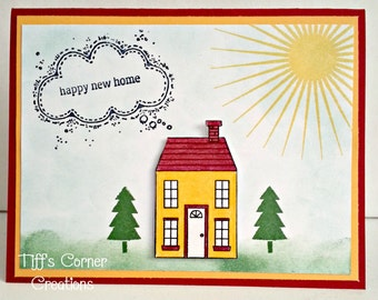 Cloudy New Home Greeting Card