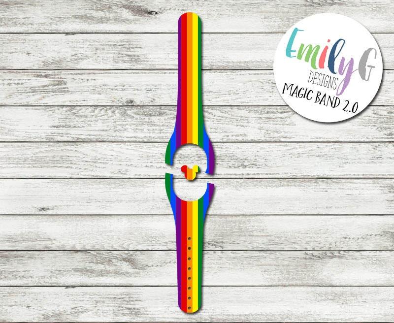 rainbow magic band 2 0 decal or skin custom waterproof. Black Bedroom Furniture Sets. Home Design Ideas