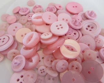 Baby Pink Button Assortment