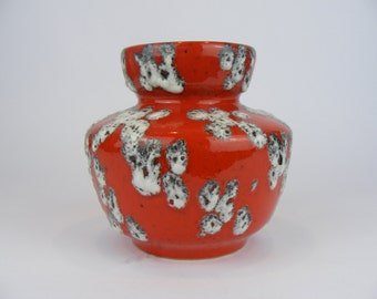 Red ES Keramik Fat Lava Vase