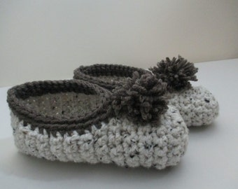 Hand Crochet House Slippers Shoes Size 9 to 10