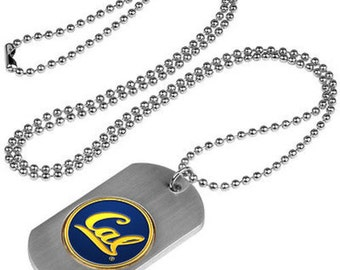 California Golden Bears Stainless Steel Dog Tag Necklace