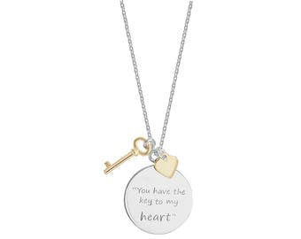 Sterling Silver You Have the Key to my Heart Necklace