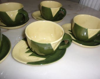 Shawnee Corn Queen - Cups and saucers  SALE