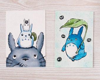 Handmade Totoro Postcards