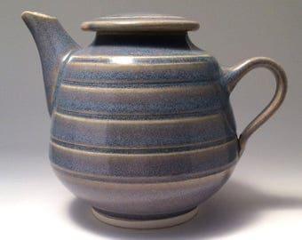 Teapot, Handthrown porcelain, lavender/beige glaze, tea