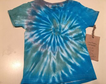 2/3T  Blues and green sea swirling toddler 2/3T