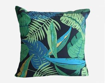 Tropical Pillow Cover, Palm Leaf Pillow case, Hawaiian pillow