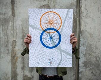 Austin Biking Poster