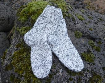 Hand Knit socks Wool knit socks Knitted socks Knit wool socks Icelandic wool socks , sheep wool socks, gift , lopi socks ,One Size 37
