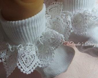 Ruffled Socks Frilly Socks Easter Socks Little Girls Socks Girl's Socks Toddler Socks Newborn Socks Christening Sock Baby Gift Wedding Socks