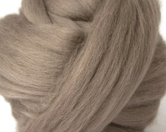 Merino Wool Combed Top/Roving by the Pound - Pewter