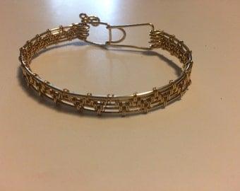 Gold filled Bracelet Handwoven 14K Gold filled Handcrafted