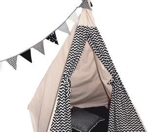 Navy Teepee, Boys Play Tent, Large Teepee