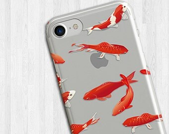 Koi fish Pond clear iPhone 6s case, clear iphone 7 case,clear iphone 6 case,iphone 5 case,clear iphone 7 Plus case,clear iphone case