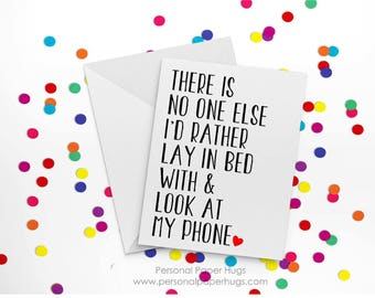 There is No One Else  - Funny Anniversary Card - Funny Relationship card - Funny I love you card - Anniversary Card