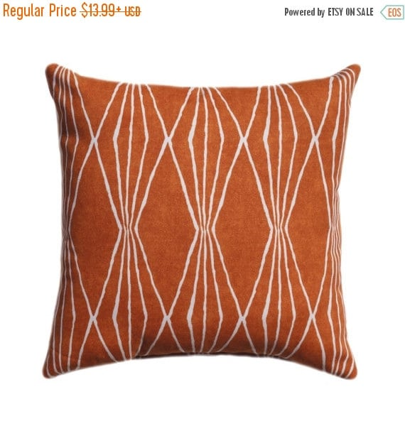 15 Sizes Available Sweet Potato Orange By Thepillowcoverstore