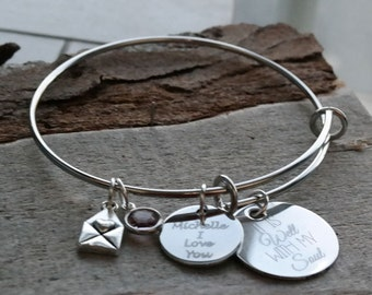It Is Well With My Soul Wire Adjustable Bangle Bracelet