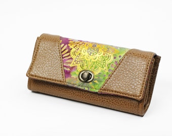 Womens Wallet - Vegan Wallet - Boho Chic Wallet - Large Wallet for Women  - Gift for Her - Phone Clutch Wallet - Hippy Wallet - cruelty free