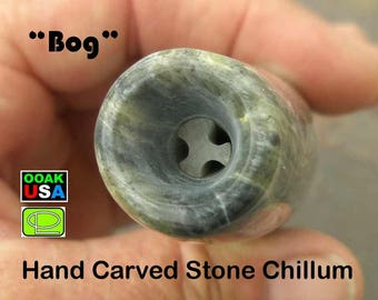 Large stone chillum of hand carved healing stone