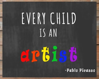 Every Child is an Artist Digital Sign