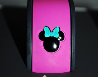 Small Minnie Head Birthday Ears Vinyl Decal for Magic Band - Solid & Glitter Vinyl Combos